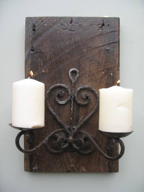 Rustic Wall Decor candle holder