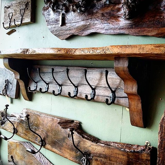 Oak Coat Hook Rack