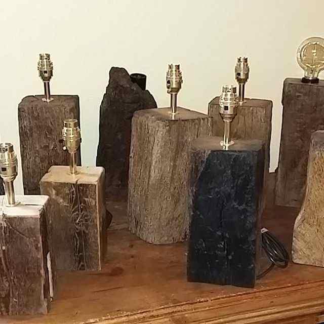 Rustic Wooden Lamps