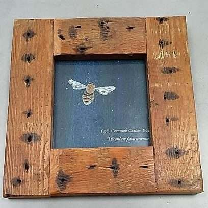Rustic small picture with wooden frame