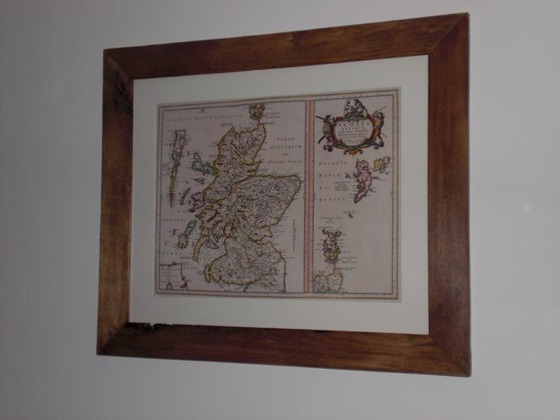 Salvaged Oak Picture Frame