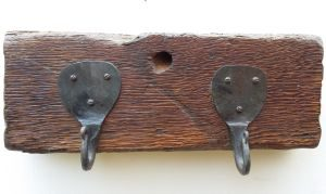 Rustic Oak Coat Rack
