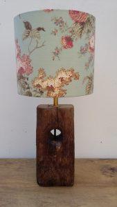 rustic oak lamp