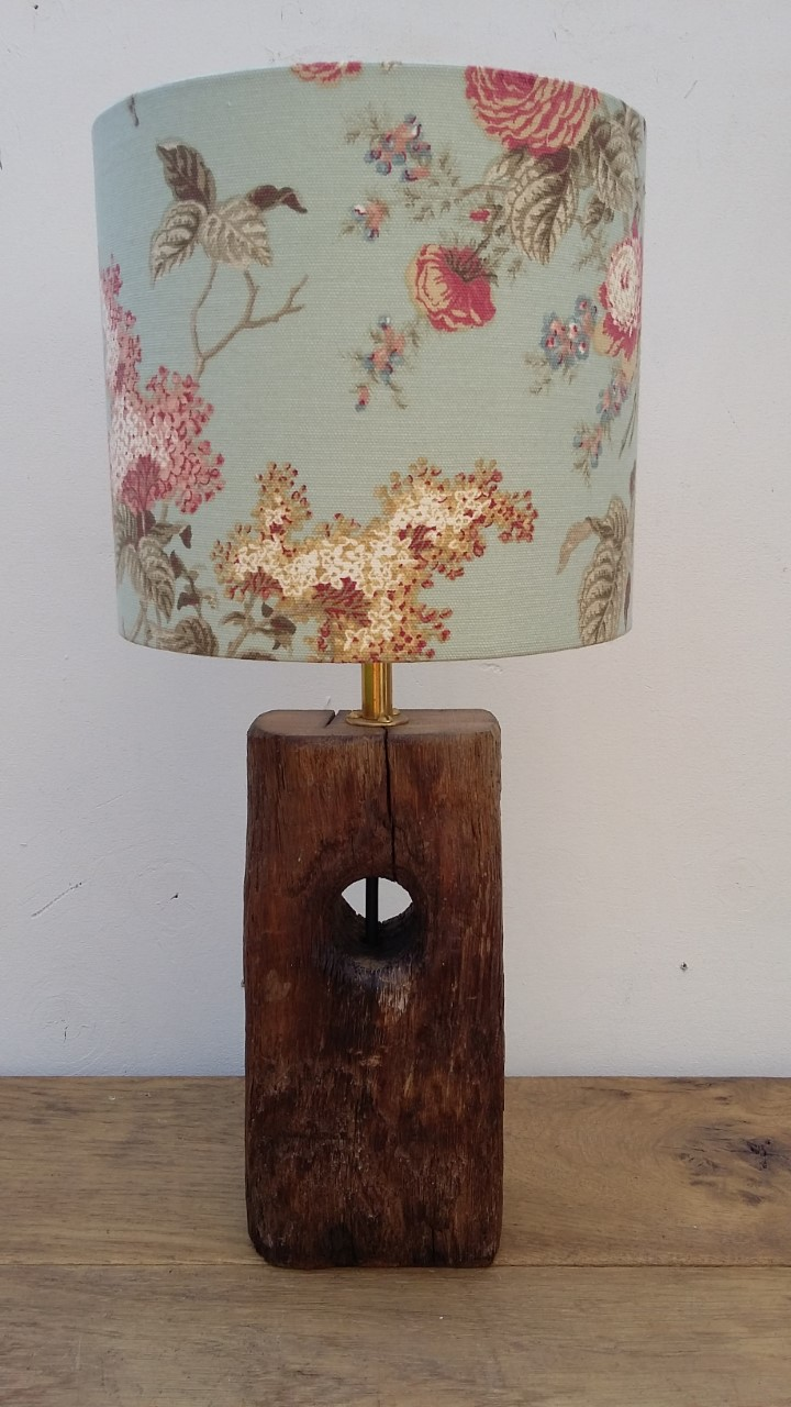 rustic oak lamp