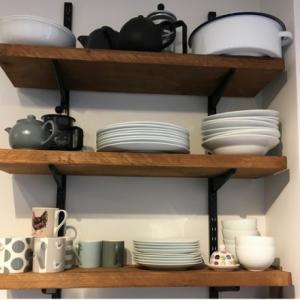 Bespoke pine shelves